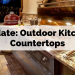 Update: Outdoor Kitchen Countertops